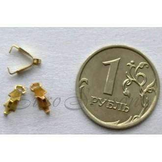 Бейл-Держатель зажимный мет.00x00мм GM-DC-011/01-G цв.Золото (цена за 1уп/5шт)