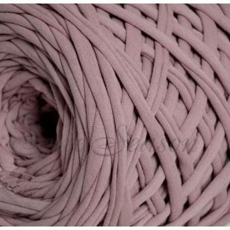 Трикотажная пряжа 7-9мм Хлопок 100% цв.2250 Пыльная роза (Бобина/100-110м)
