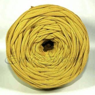 Трикотажная пряжа 7-9мм Хлопок 100% цв.4598 Горчица Зерненая  (Бобина/100-110м)
