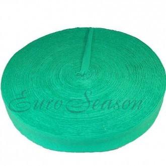 Трикотажная лента 7-9мм Хлопок 100% цв.5302 Зеленый (Ролик для 100-110м)
