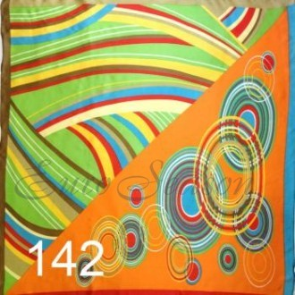 Платок 90х90см нат. шелк мод.Krt-Slk-142 (цена/1шт)