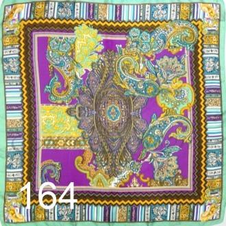 Платок 90х90см нат. шелк мод.Krt-Slk-164 (цена/1шт)