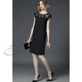 Лакби Платье арт.Od-Lakbi-11857 цв.Черный р.48