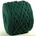 Трикот.Пряжа 7-9мм Хлопок 100% цв.5900 Т.Зеленый (Малахит) (Бобина/100-110м)
