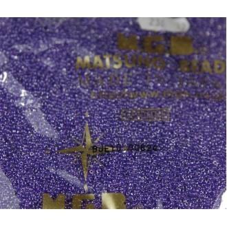 Бисер Matsuno круглый 12/0 цв.236 Прозр.Кристалл/Фиолет (цена за уп/10г)
