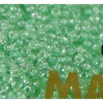 Бисер Matsuno круглый 12/0 цв.258 Прозр.Кристалл/Салатовый (цена за уп/10г)