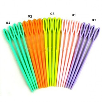 Иглы для сшивания трикотажных изделий пластик (70х03мм+90х04мм)  цв.05 (Цена за 1компл/2шт)