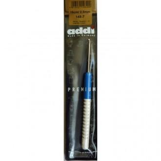 Крючок для вязания Addi (Германия) 2.0мм, металл с пластиковой ручкой (Цена за 1шт)