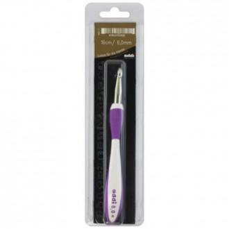 Крючок для вязания Addi (Германия) 8.0мм, металл с пластиковой ручкой (Цена за 1шт)