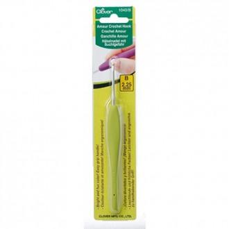 Крючок для вязания Clover Amour (Япония) 2.25мм, металл с прорезиненной ручкой (Цена за 1шт)