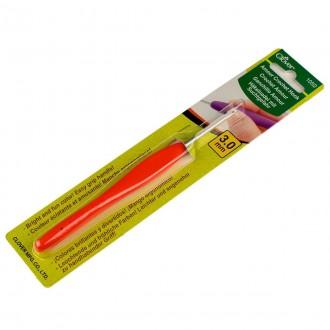 Крючок для вязания Clover Amour (Япония) 3.0мм, металл с прорезиненной ручкой (Цена за 1шт)