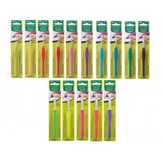 Крючок для вязания Clover Amour (Япония) 2.0мм, металл с прорезиненной ручкой (Цена за 1шт)