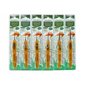 Крючок для вязания Clover Soft Touch (Япония) 1.50мм, металл с ручкой из пластика (Цена за 1шт)