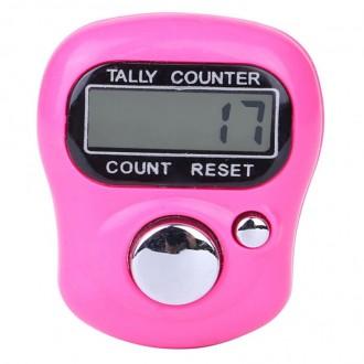 Счетчик рядов электронный 35х30х15мм цв.02 Ярко-Розовый (Цена за 1шт)
