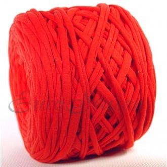 Трикотажная пряжа 7-9мм Хлопок 100% цв.3300 Красный Коралл (Бобина/100-110м)