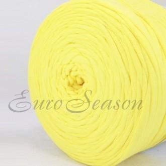 Трикотажная пряжа 7-9мм Хлопок 100% цв.4540 Light Lemon (Бобина/100-110м)
