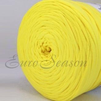 Трикотажная пряжа 7-9мм Хлопок 100% цв.4560  Lemon (Бобина/100-110м)