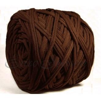 Трикотажная пряжа 7-9мм Хлопок 100% цв.4810 Coffee (Бобина/100-110м)