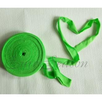 Трикотажная лента 7-9мм Хлопок 100% цв.5250 Зеленое Яблоко (Ролик для 100-110м)