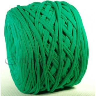 Трикотажная пряжа 7-9мм Хлопок 100% цв.5302 Зеленый (Бобина/100-110м)