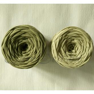 Трикотажная пряжа 7-9мм Хлопок 100% цв.5740 Оливка  (Бобина/100-110м)