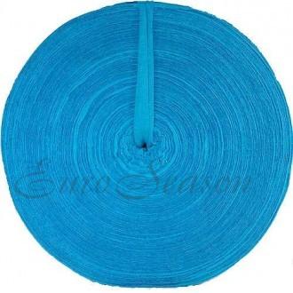 Трикотажная лента 30мм Хлопок 100% цв.7500 Бирюза (Ролик для 100-110м)