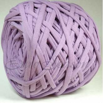 Трикотажная пряжа 7-9мм Хлопок 100% цв.8400 Lavender Herb (Бобина/50м)