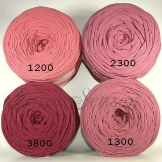 Трикотажная пряжа 7-9мм Хлопок 100% цв.1300 Canyon Rose (Бобина/100-110м)