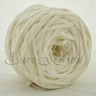 Трикотажная пряжа 7-9мм Хлопок 100% цв.0007 Ivory (Бобина 100-110м)