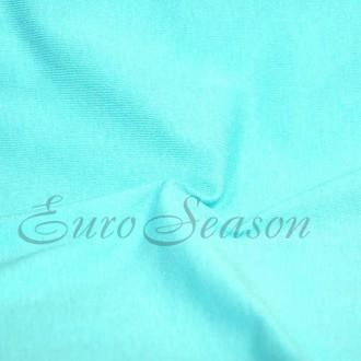 Трикот. полотно Кулирка ХБ100% пл.145г/м2 отрез 0,5х0,5м цв.6150 Tiffany Blue (цена/1in)