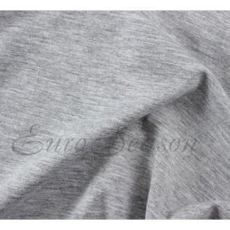 Трикот. ткань Кулирка Хлопок 100% пл.145г/м2 чулок 1х2м цв.9200 Серый Меланж (цена/1пог.м)