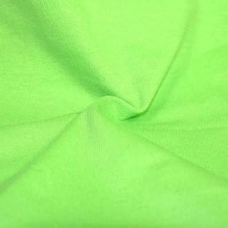 Трикот. полотно Кулирка ХБ100% пл.145г/м2 отрез 0,5х0,5м цв.5250 Зеленое Яблоко (цена/1шт)