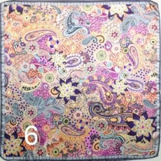 Платок 90х90см нат. шелк мод.Krt-Slk-006 (цена/1шт)