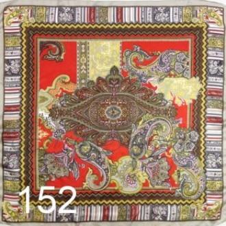 Платок 90х90см нат. шелк мод.Krt-Slk-152 (цена/1шт)