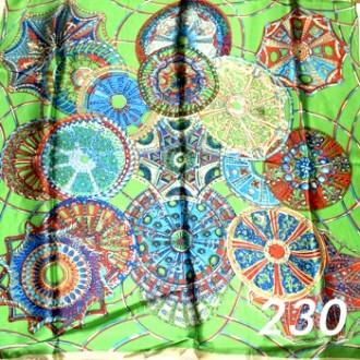 Платок 90х90см нат. шелк мод.Krt-Slk-230 (цена/1шт)