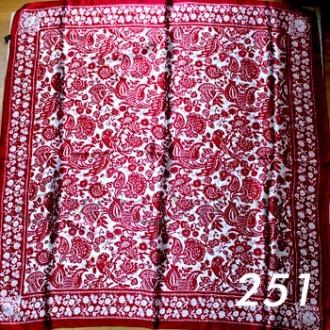 Платок 90х90см нат. шелк мод.Krt-Slk-251 (цена/1шт)