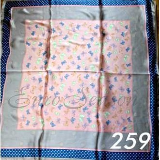Платок 90х90см нат. шелк мод.Krt-Slk-259 (цена/1шт)